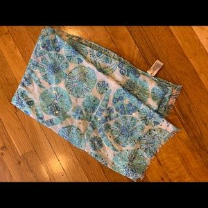 Lilly for Target scarf blue beach print